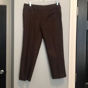 New York and Company brown cropped dress pants